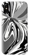 Black And White Abstract Flower IPhone Case