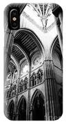 Black And White Almudena Cathedral Interior In Madrid IPhone X Case