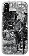 Black And White Amish Buggy IPhone X Case
