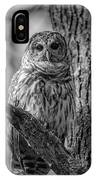Black And White Barred Owl IPhone Case