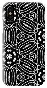 Black And White Boho Pattern 2- Art By Linda Woods IPhone Case by Linda Woods