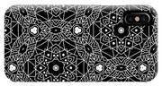 Black And White Boho Pattern 3- Art By Linda Woods IPhone Case