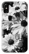 Black And White Coneflowers IPhone Case