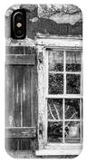 Black And White Cottage Window IPhone Case