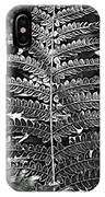 Black And White Fern IPhone Case