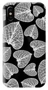 Black And White Leaf Abstract IPhone Case