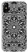 Black And White Mandala 34 IPhone Case by Robert Thalmeier