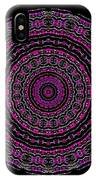 Black And White Mandala No. 3 In Color IPhone Case