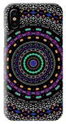 Black And White Mandala No. 4 In Color IPhone Case