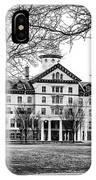 Black And White - Old Main - Widener University IPhone Case