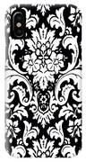 Black And White Paisley Pattern Vintage IPhone Case