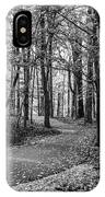 Black And White Path In Autumn  IPhone Case