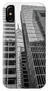 Black And White Philadelphia - Skyscraper Reflections IPhone Case