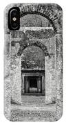Black And White Photograph Beaufort Historic Church - Chapel Of The Ease IPhone Case