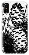 Black And White Pine Cone IPhone Case