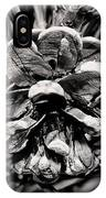 Black And White Pine Cone Wall Art IPhone Case