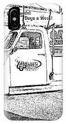 Black And White Sketch Truck IPhone Case