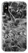 Black And White Sun Flowers  IPhone Case