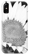 Black And White Sunflower Face IPhone Case