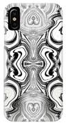 Black And White Symmetry   IPhone Case