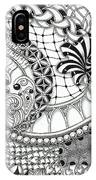 Black And White Tangle Art IPhone Case