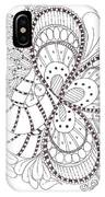 Black And White Tangle IPhone Case