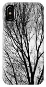 Black And White Tree Branches Silhouette IPhone Case