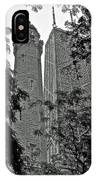 black and white Water Tower IPhone Case