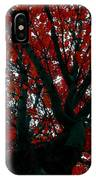 Black Bark Red Tree IPhone Case