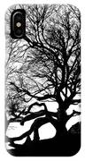Black Birch Silhouette 2009 07 IPhone Case