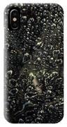 Black Bubbles IPhone Case