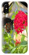 Black Butterfly In A Diamond IPhone Case