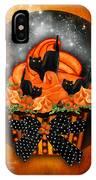 Black Cat Cupcake IPhone Case