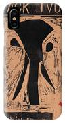 Black Ivory Issue 1 Woodcut IPhone Case