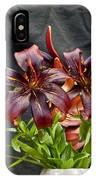 Black Lilies IPhone Case