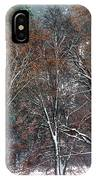 Black Oaks In Snowstorm Yosemite National Park IPhone Case