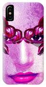 Black Orchid Eyes IPhone Case