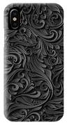 Black Paper Floral Seamless Pattern IPhone Case