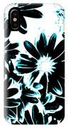 Black Petals With Sprinkles Of Teal Turquoise IPhone Case
