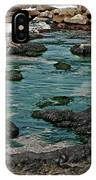 Black Rocks On Blue Water IPhone Case