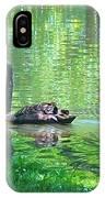 Black Swan Swim In A Pond IPhone Case