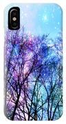 Black Trees Bright Pastel Space IPhone Case