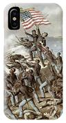 Black Troops Of The Fifty Fourth Massachusetts Regiment During The Assault Of Fort Wagner IPhone Case