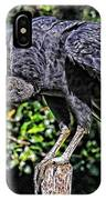 Black Vulture On A Fence Post IPhone Case