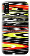 Black Yellow Red White Abstract IPhone Case