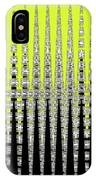 Black Yellow White With Abstract Action IPhone Case