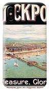 Blackpool, England - Retro Travel Advertising Poster - Seaside Resort - Vintage Poster IPhone Case