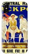 Blackpool, England - Retro Travel Advertising Poster - Three Fashionable Women - Vintage Poster -  IPhone Case
