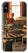 Blacksmith Shop Wheel Repair At Old World Wisconsin IPhone Case