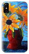 Blazing Sunflowers IPhone Case